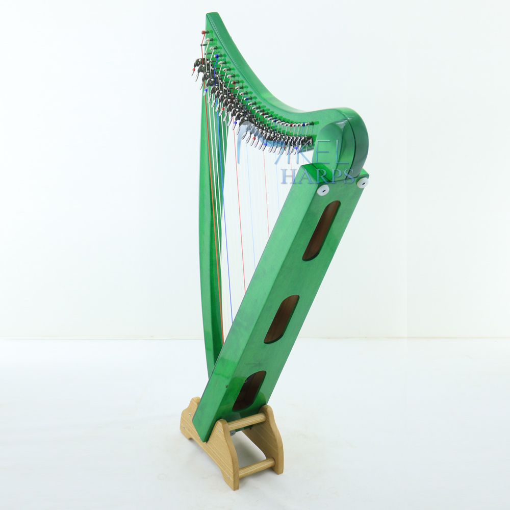 lap harp wooden handle stand