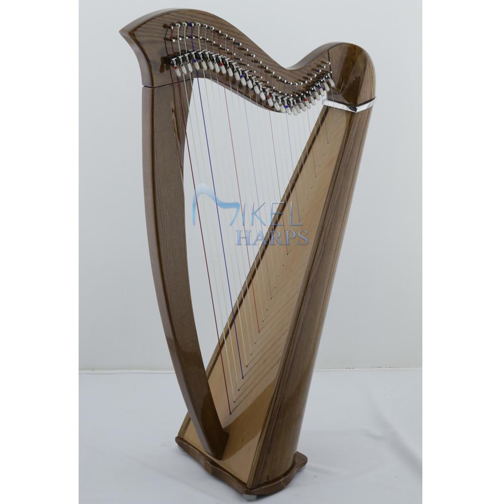 27 string harp mahogany