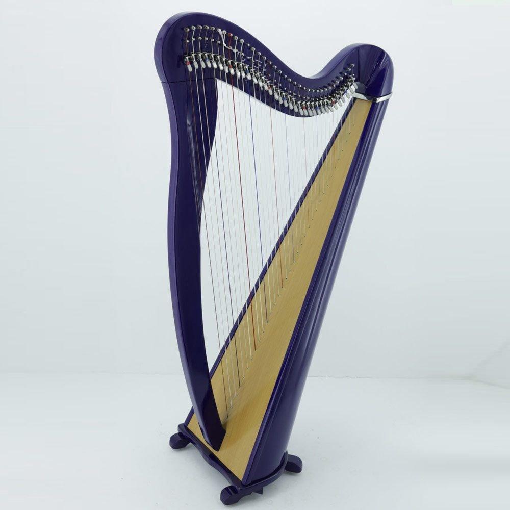 34 strings celtic harp blue