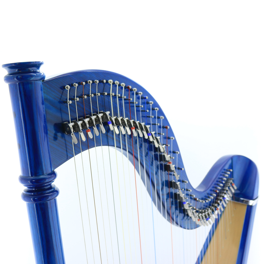 38 strings lever harp sharping levers