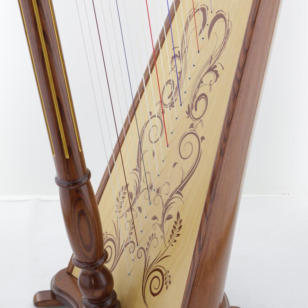 harp soundboard decoration