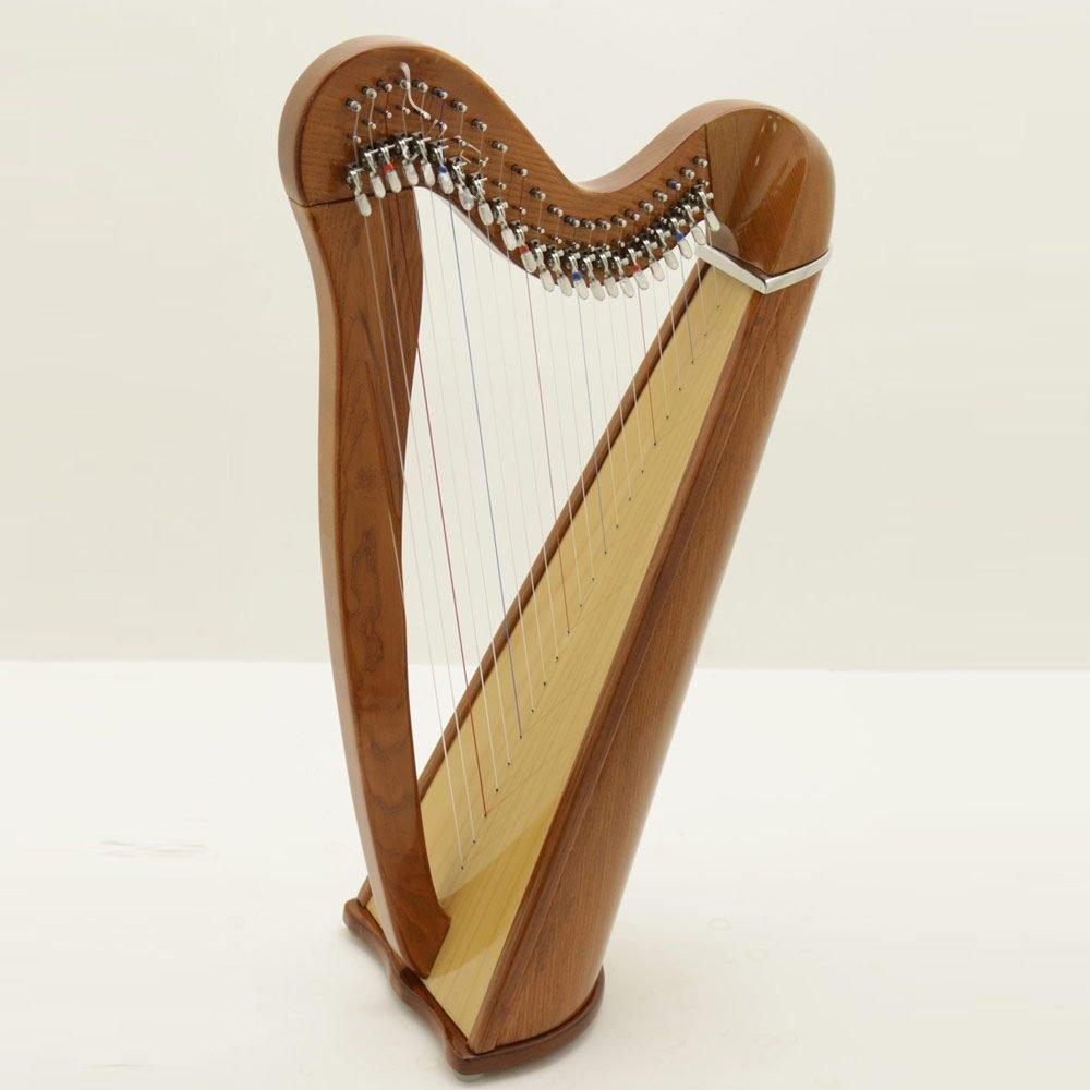 22 string harp mahogany