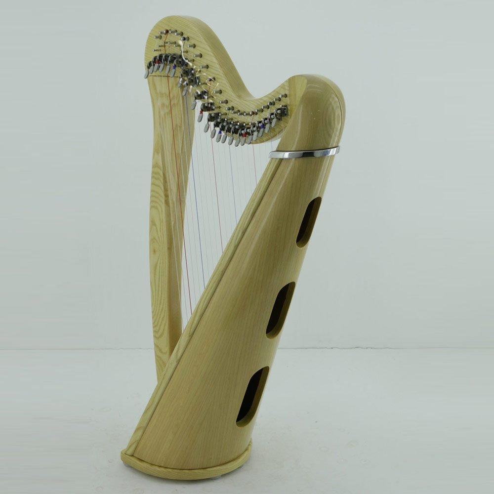 22 string harp natural soundbox
