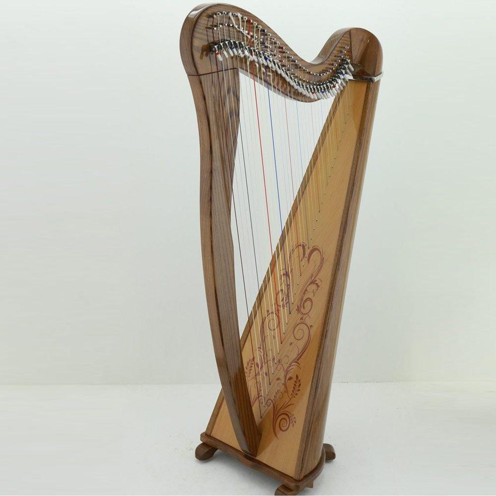 34 String Celtic Harp Soundboard Decals