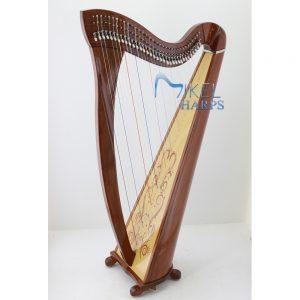 34 Strings Lever Harp