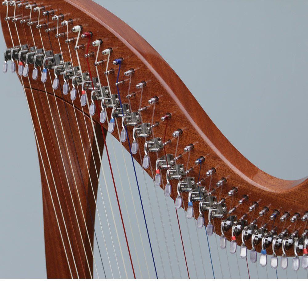 38 string lever harp curve