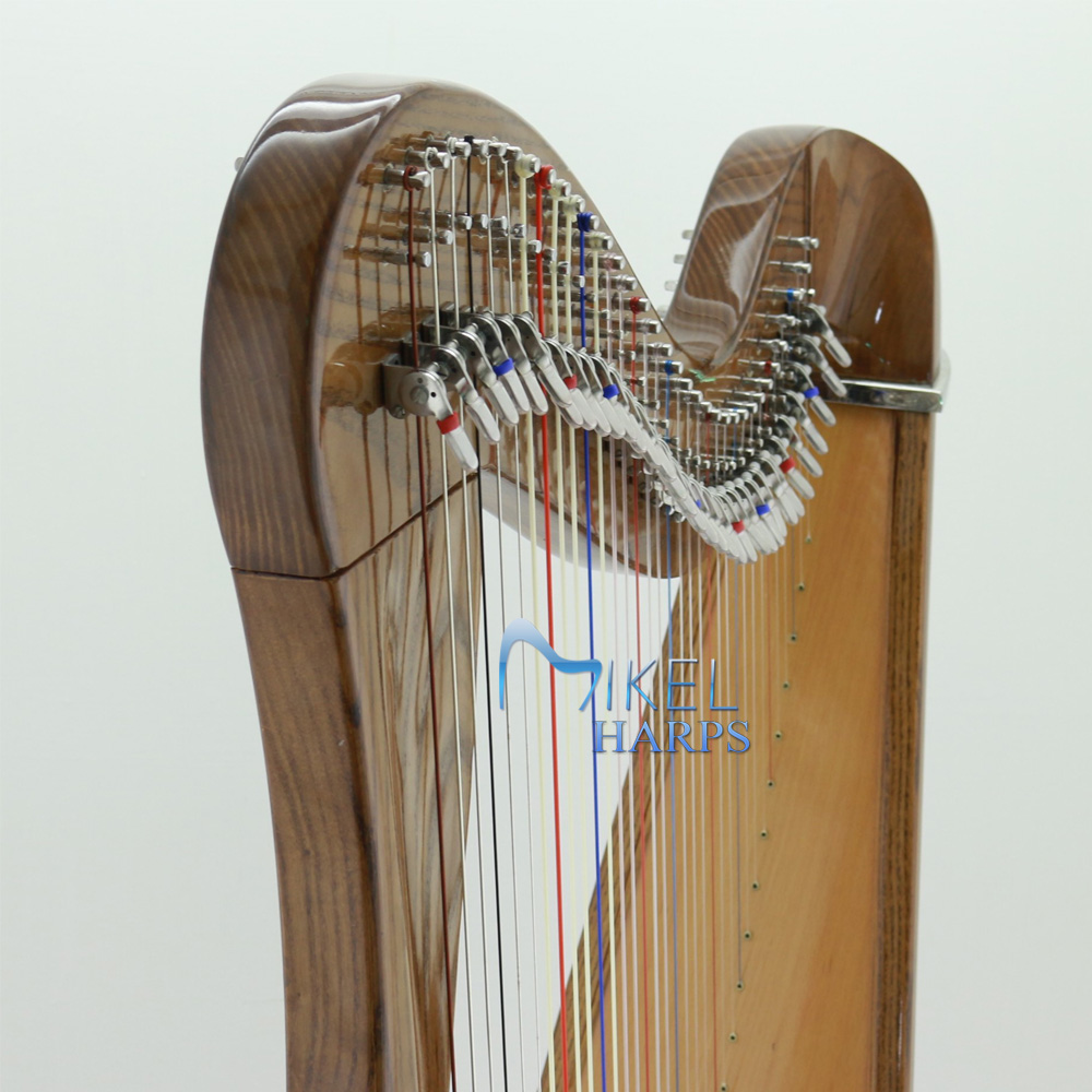 34 string celtic harp front