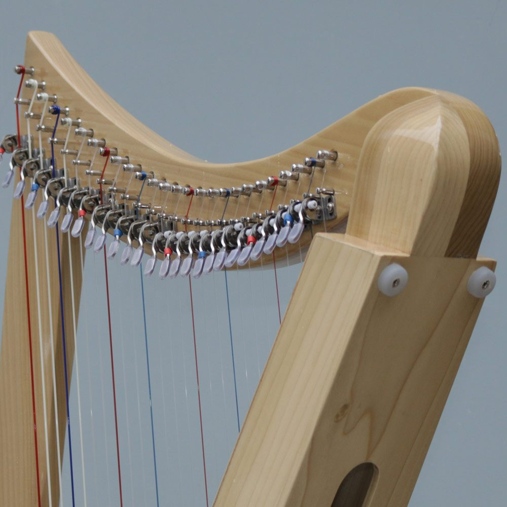 Celtic Lap Harp Neck