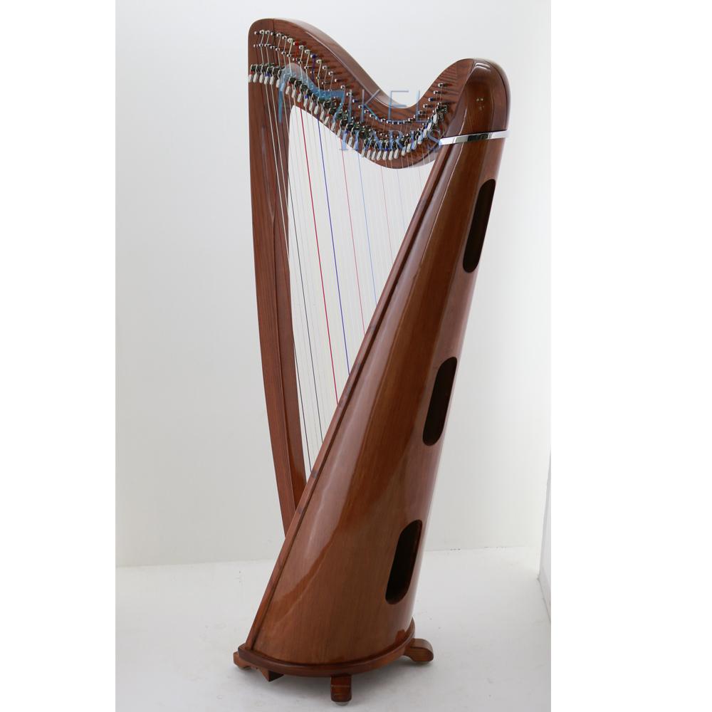 Celtic Harp 34 string soundholes