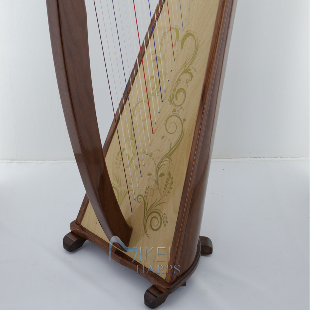 34 string harp soundboard decal