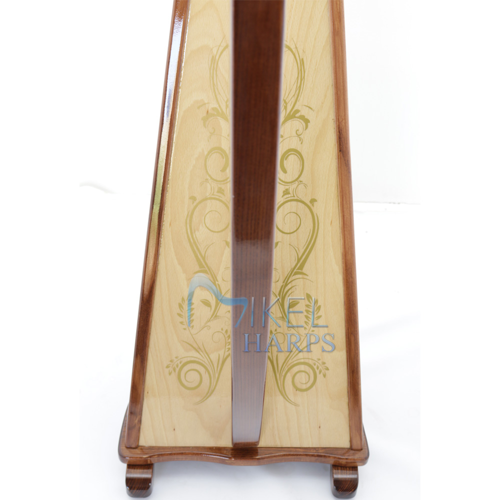 Mikel harp soundboard decoration