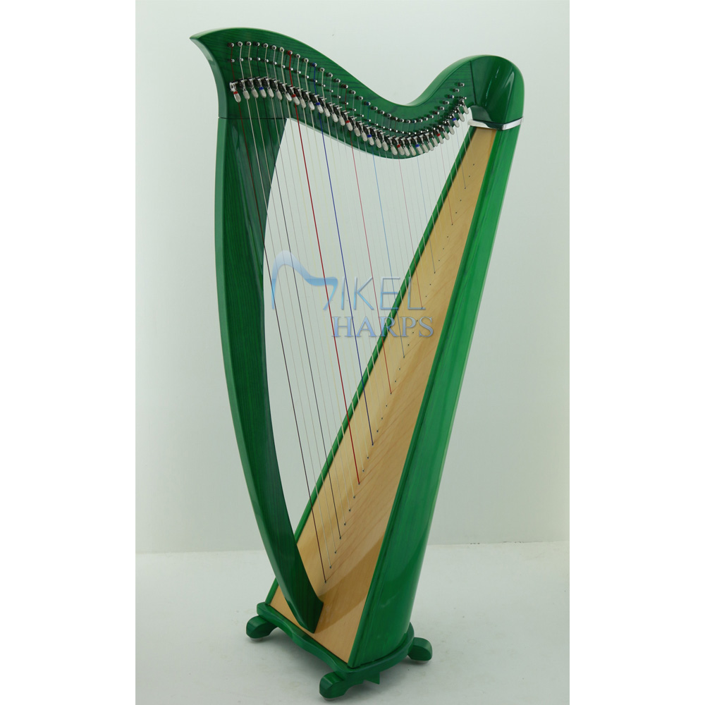 34 string harp green