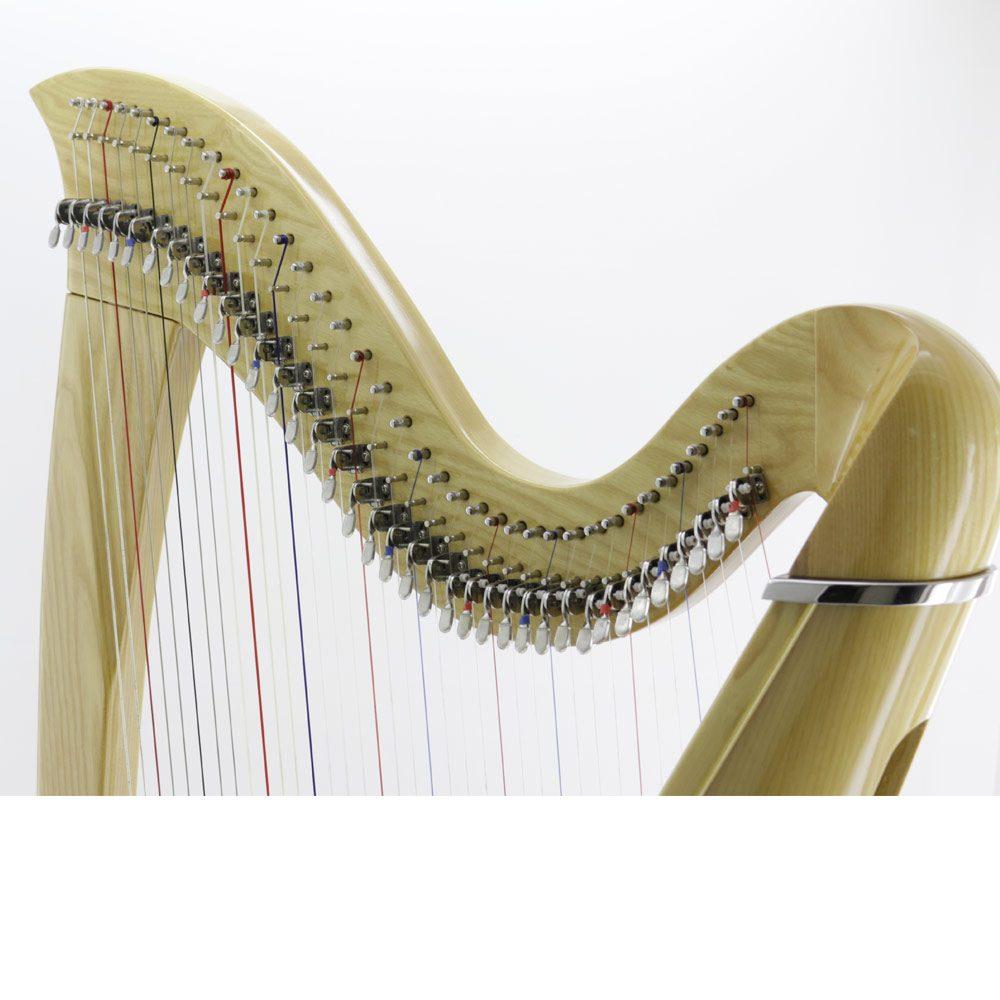 38 string harp neck