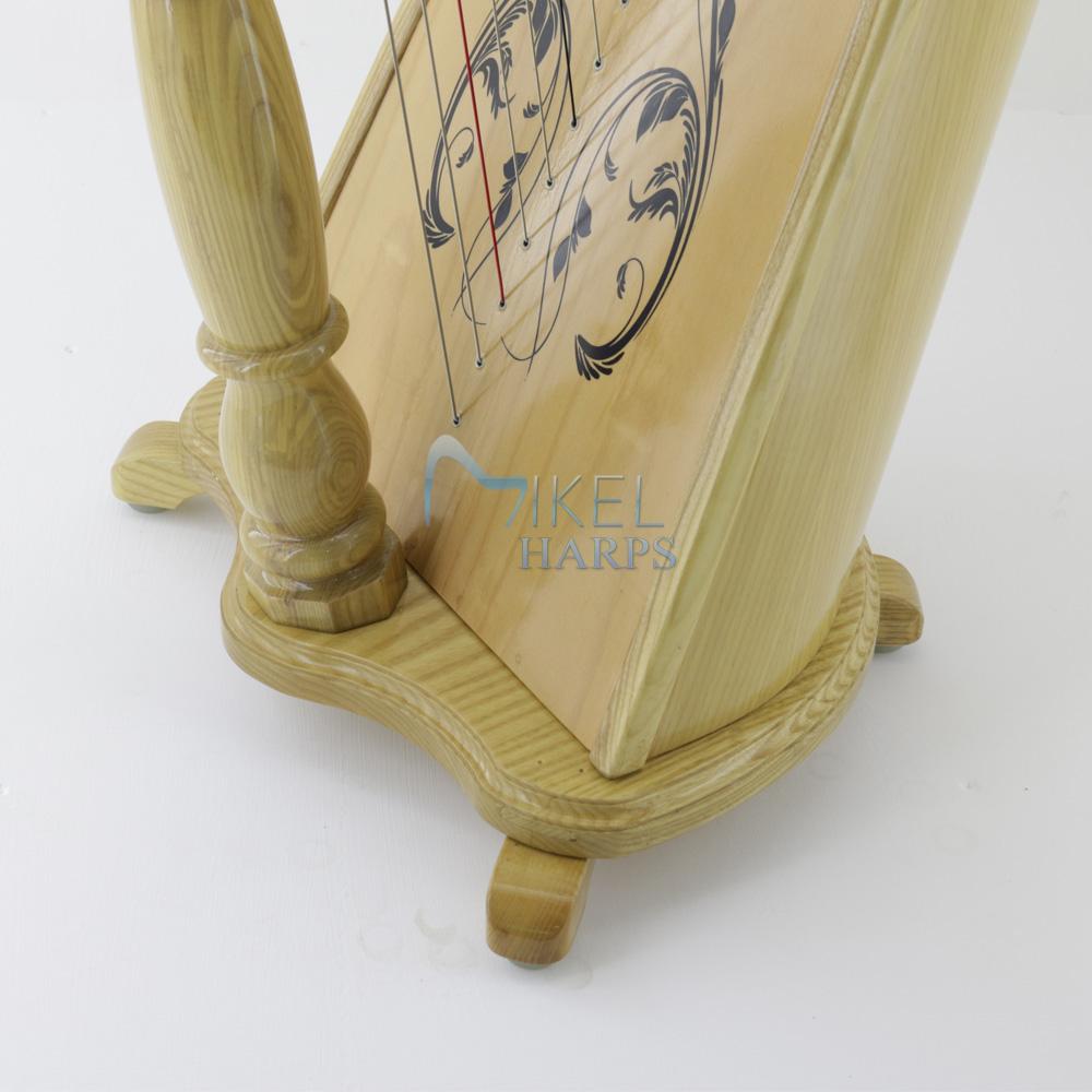 40 string harp base natural