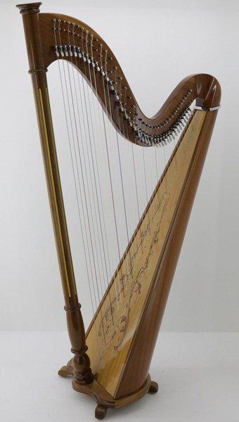 concert design 40 string harp