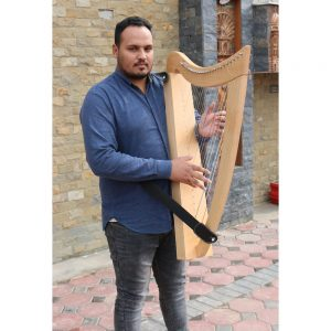 lap harp with strap