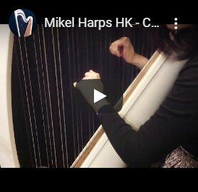playing 34 string harp