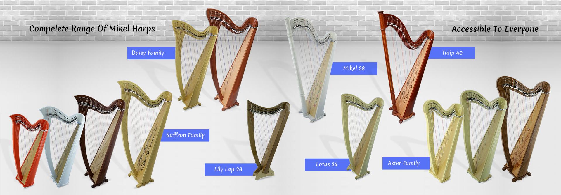 complete range of mikel harps