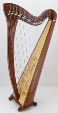 34 string lever harp
