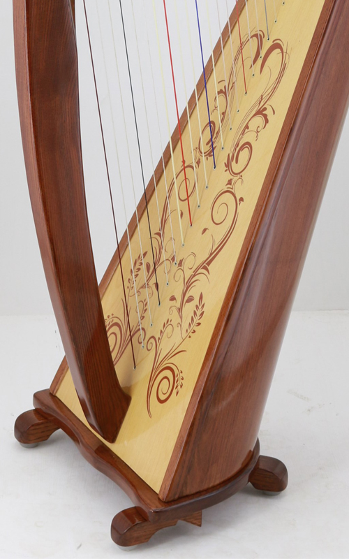 Harp soundboard decoration