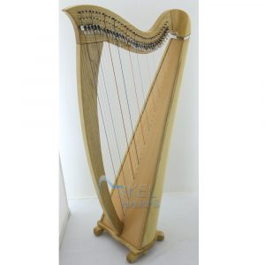 saffron 34 string harp natural