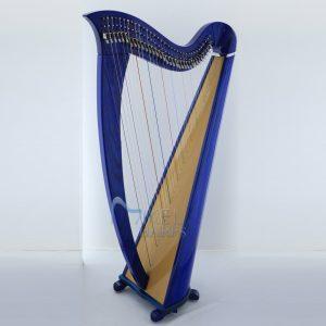 34 String Lever Harp blue finish