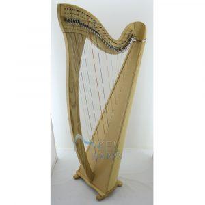 38 String Harp Natural Finish