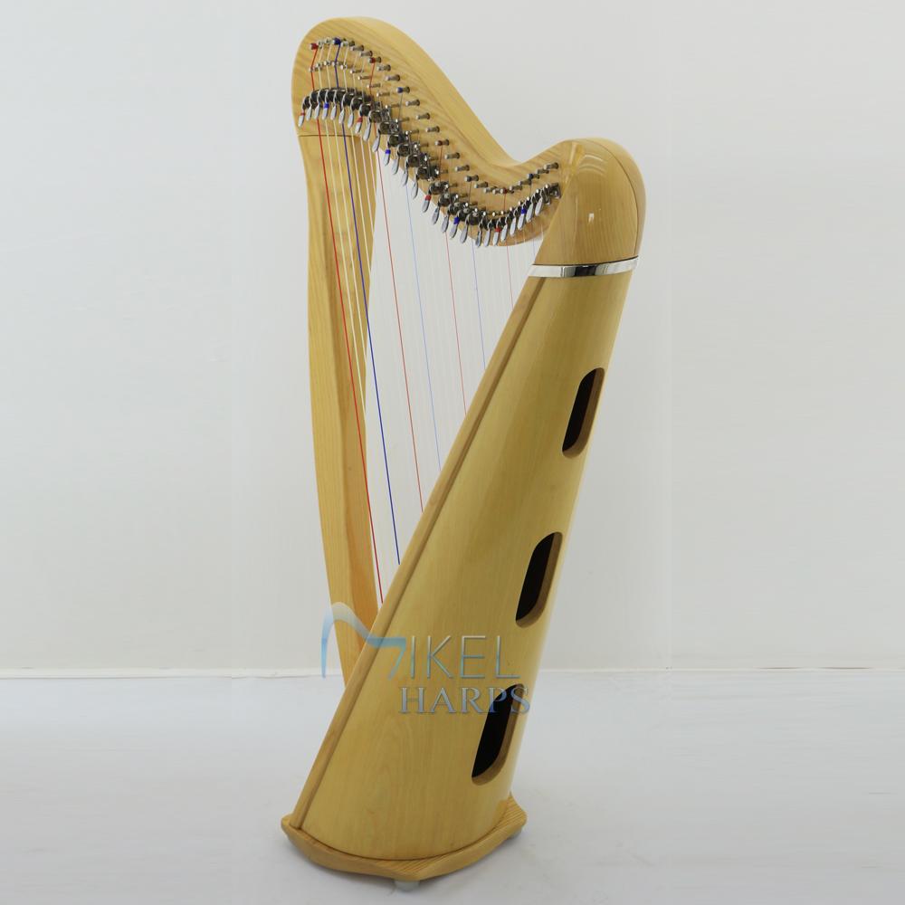27 string harp natural finish