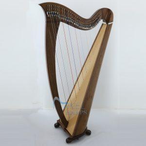 34 String Harp mahogany