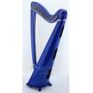 34 string harp blue finish